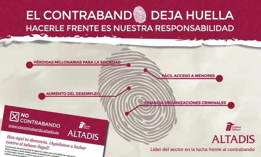 Altadis lanza la campaña 'El contrabando deja huella'