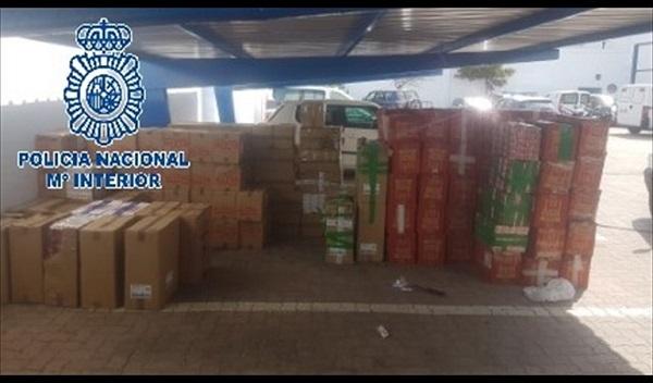 Aprehendidas 50.000 cajetillas en un domicilio particular de La Línea