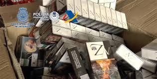 Desarticulada en Madrid una red internacional de contrabando de tabaco